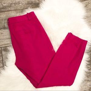 J. Crew Mini Crop Pants In Pink